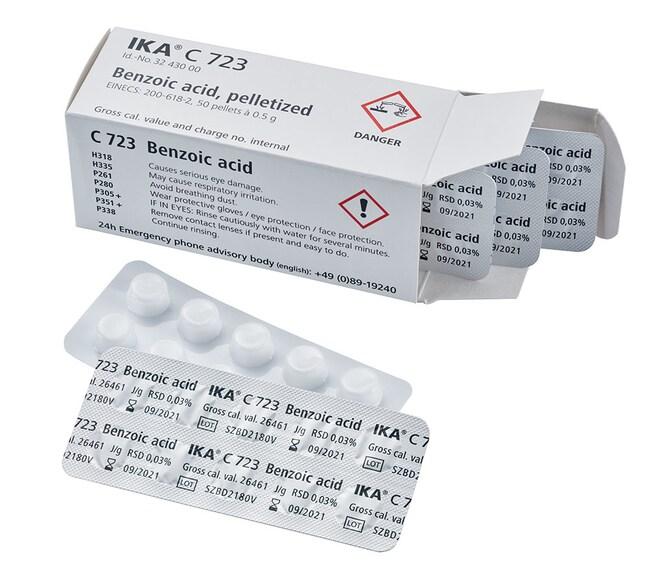 IKA™C 723 Benzoic Acid Quantity: 0.5g/Pellet Standard Solutions