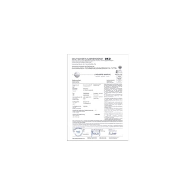 Julabo™DKD-5-Point Calibration Certificate Product Type: DKD-5-Point Calibration Certificate for Circulator Julabo™DKD-5-Point Calibration Certificate