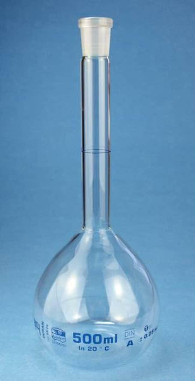Karl Hecht™Volumetric Flask, Conformity Certified, Duran™ Capacity: 1000mL, Closure Size: NS 24, Neck Style: Standard Karl Hecht™Volumetric Flask, Conformity Certified, Duran™