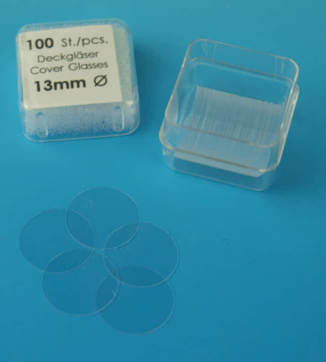 Karl Hecht™Assistent™ Circular Cover Glasses for Microscopy Size: 13mm; Thickness: 0.13 to 0.16mm Karl Hecht™Assistent™ Circular Cover Glasses for Microscopy