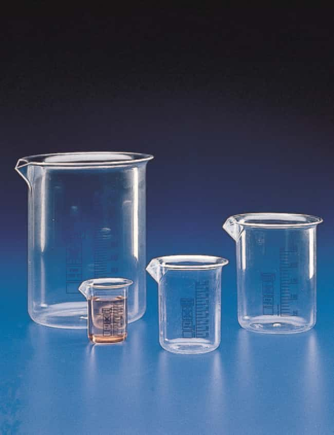 Kartell™ Low Form Beaker with Blue Graduations Capacity: 250mL Kartell™ Low Form Beaker with Blue Graduations