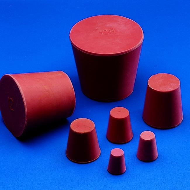 Kartell™Bouchons coniques en caoutchouc rouge: Stoppers and Closures Bouteilles, bocaux et carafes
