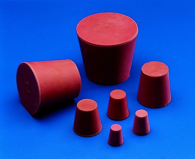 Kartell™Red Rubber Conical Stoppers: Stoppers and Closures Botellas, frascos y jarras