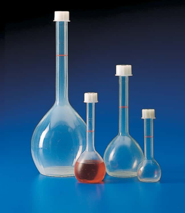 Kartell™ (TPX™) PMP Volumetric Flask with Screw Cap Capacity, Metric: 50mL Kartell™ (TPX™) PMP Volumetric Flask with Screw Cap