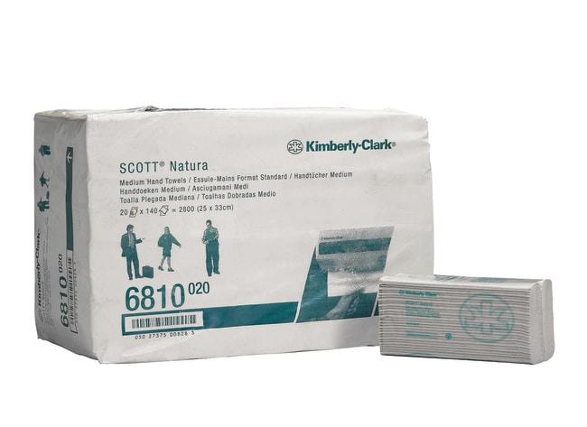 Kimberly-Clark™Scott Hostess Natura Handtücher, groß, weiß, 25x50cm (VE=20X84 Tücher) Größe (LxB): 250x 330mm Produkte