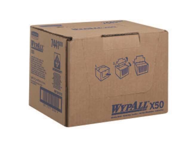 Kimberly-Clark™Paños de limpieza WYPALL™ Color: Azul, dimensiones (LxAn): 41,60 x 24,50cm; embalaje: 300/paq. Kimberly-Clark™Paños de limpieza WYPALL™