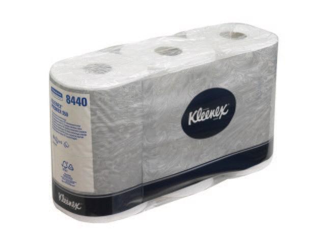 Kimberly-Clark™ ProfessionalRollo de papel higiénico estándar KLEENEX™ Capas: 3capas, cantidad del envase: 6 x 6rollos x 350hojas Ver productos