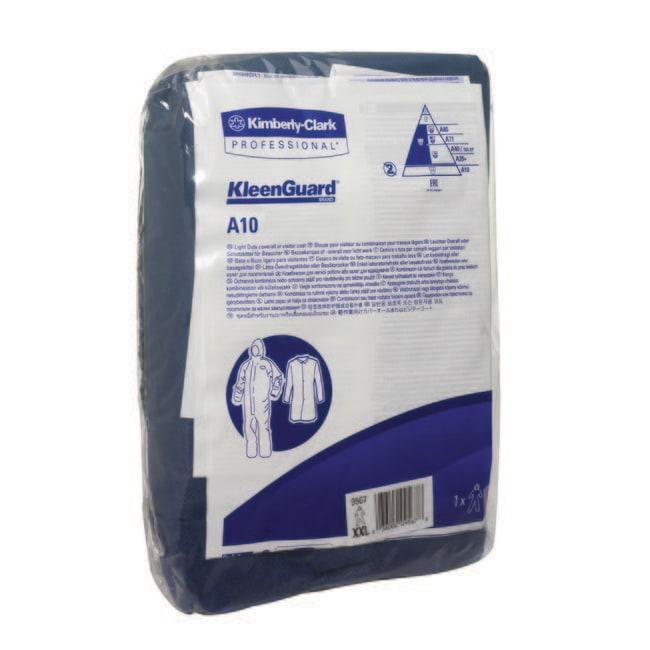 Kimberly-Clark™Monos de polipropileno A10 Color: Blue; Size: X-Large Kimberly-Clark™Monos de polipropileno A10