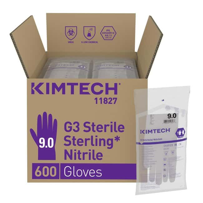 Kimberly-Clark™ Kimtech Pure™ G3 Sterling™ sterile Nitrilhandschuhe Size: 9 Kimberly-Clark™ Kimtech Pure™ G3 Sterling™ sterile Nitrilhandschuhe