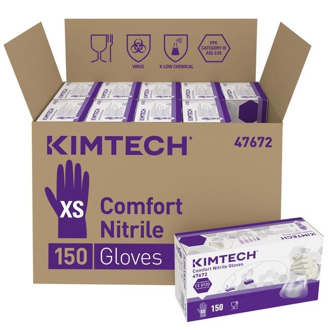 Kimberly-Clark™Kimtech™ Comfort Nitrile beidseitig tragbare Handschuhe – Weiß Size: XS Produkte