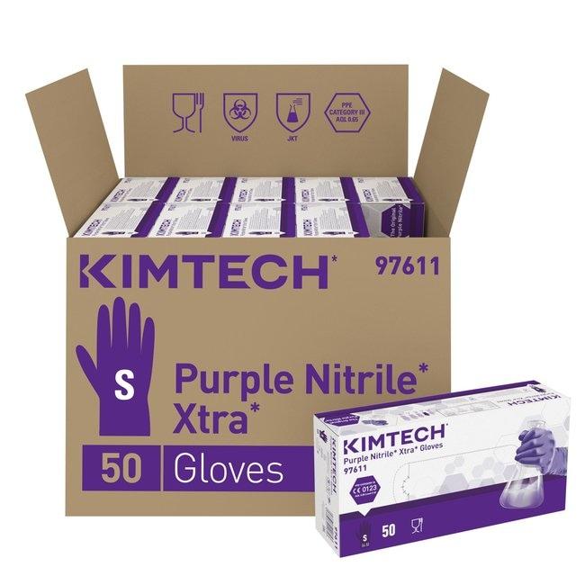 Kimberly-Clark™Kimtech™ Purple Nitrile™ Xtra™  Ambidextrous Gloves Small Kimberly-Clark™Kimtech™ Purple Nitrile™ Xtra™  Ambidextrous Gloves