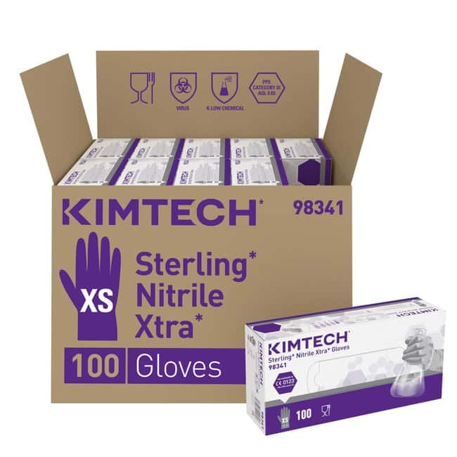 Kimberly-Clark™Gants extra larges, ambidextres, en nitrile Sterling™: Gloves Gloves, Glasses and Safety