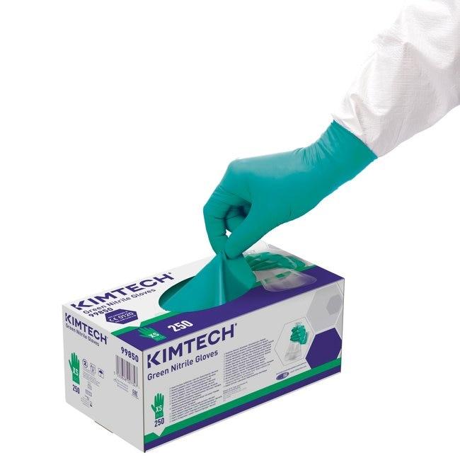 Kimberly-Clark™Kimtech™ Guantes ambidiestros de nitrilo verdes, verdes: Gloves Gloves, Glasses and Safety