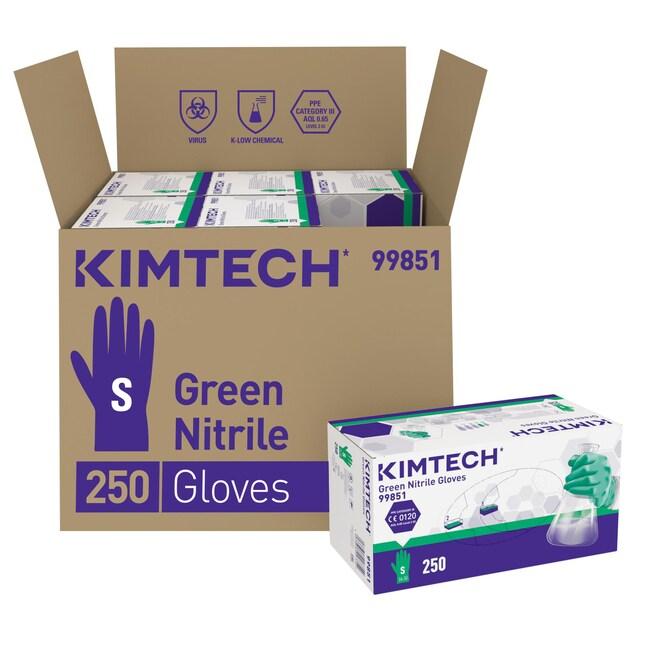 Kimberly-Clark™Kimtech™ Green Nitrile Ambidextrous Gloves Color: green; Size: S Kimberly-Clark™Kimtech™ Green Nitrile Ambidextrous Gloves