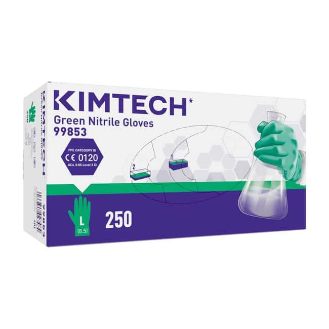Kimberly-Clark™ Kimtech™ Green Nitrile Ambidextrous Gloves Color: green; Size: L Products