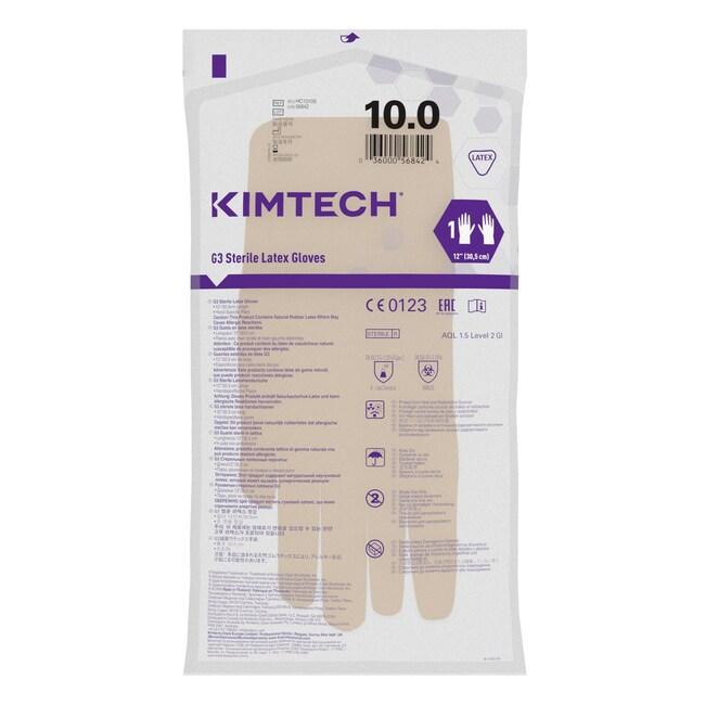 Kimberly-Clark™Kimtech™ G3 sterile, handspezifische Latexhandhandschuhe Size: 10 Kimberly-Clark™Kimtech™ G3 sterile, handspezifische Latexhandhandschuhe