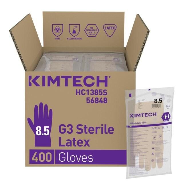 Kimberly-Clark™Kimtech™ G3 sterile, handspezifische Latexhandhandschuhe Size: 8.5 Kimberly-Clark™Kimtech™ G3 sterile, handspezifische Latexhandhandschuhe