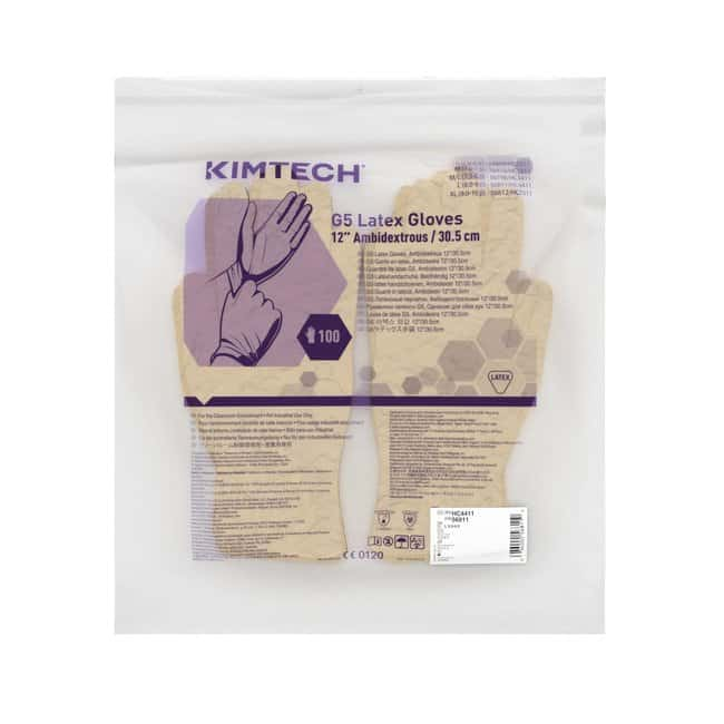 Kimberly-Clark Professional™ Kimtech™ G5 Latex Ambidextrous Gloves Large Kimberly-Clark Professional™ Kimtech™ G5 Latex Ambidextrous Gloves