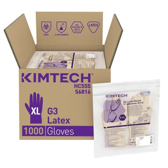 Kimberly-Clark™ Kimtech™ G3 Latex Ambidextrous Gloves X-Large Kimberly-Clark™ Kimtech™ G3 Latex Ambidextrous Gloves