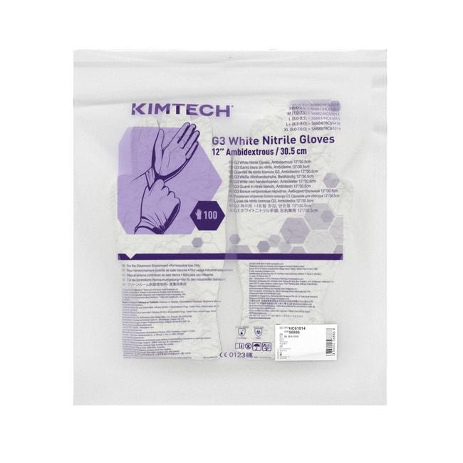 Kimberly-Clark Professional™Kimtech™ G3 weiße, beidseitig tragbare Nitrilhandschuhe X-Large Kimberly-Clark Professional™Kimtech™ G3 weiße, beidseitig tragbare Nitrilhandschuhe