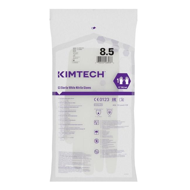 Kimberly-Clark™Gants pour les mains en nitrile blancs stériles Kimtech™ G3 Taille: 8,5 Kimberly-Clark™Gants pour les mains en nitrile blancs stériles Kimtech™ G3