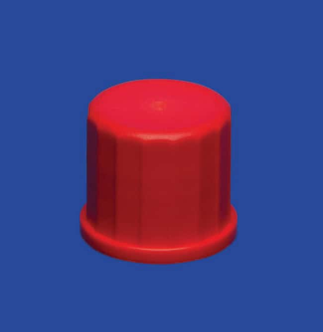 Lenz Laborglasinstrumente™ PBT Red Screw Caps with Aperture Closure Size: GL 14 Products