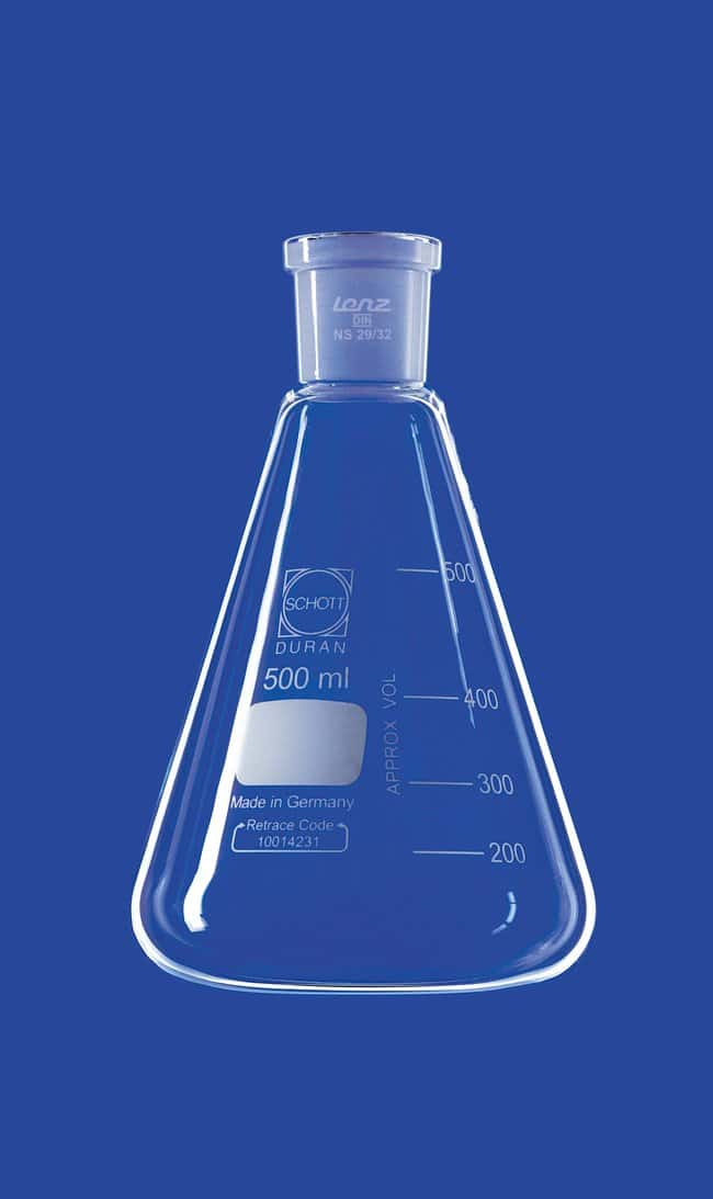 Lenz Laborglasinstrumente™Erlenmeyer Flasks with Conical Ground Joint Capacity: 10mL; 14/23 NS Socket Lenz Laborglasinstrumente™Erlenmeyer Flasks with Conical Ground Joint