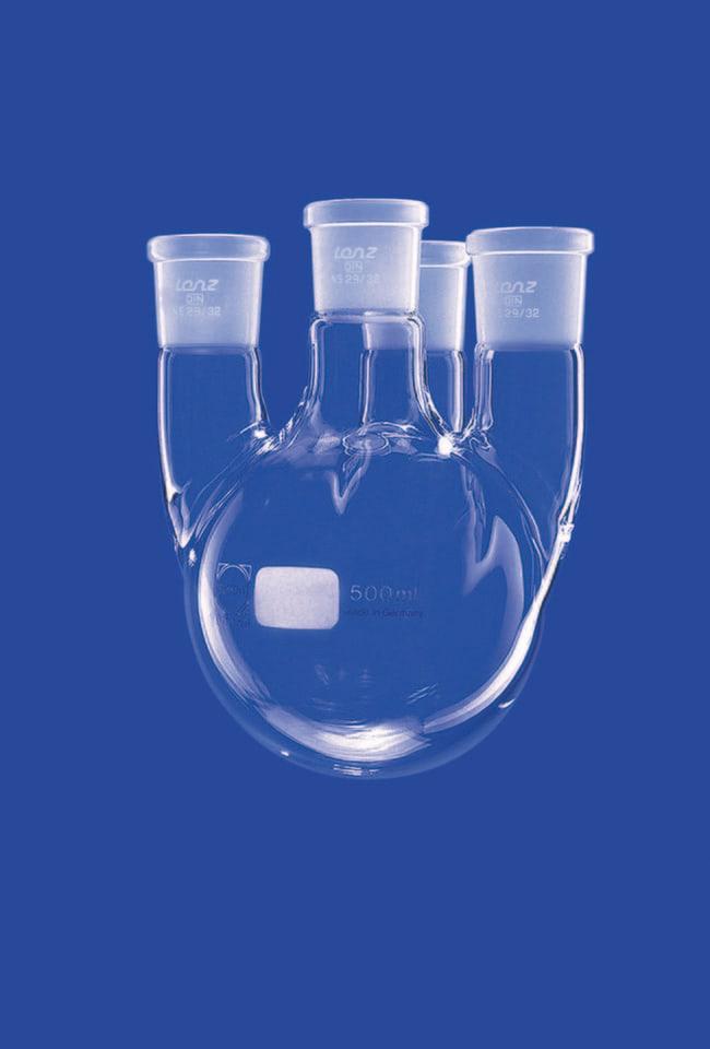 Lenz Laborglasintrumente™Rundbodenkolben mit vier Hälsen Capacity (Metric): 4000 mL Lenz Laborglasintrumente™Rundbodenkolben mit vier Hälsen