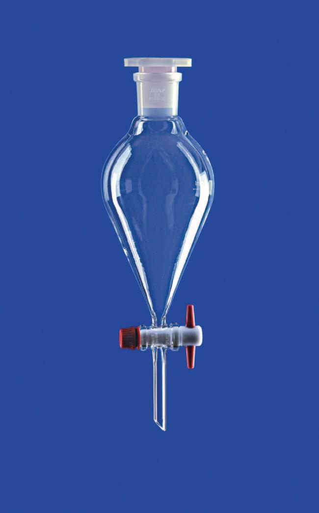 Lenz Laborglasinstrumente™Imbuti separatori conici in vetro borosilicato con tappo in vetro Capacity: 100mL Lenz Laborglasinstrumente™Imbuti separatori conici in vetro borosilicato con tappo in vetro