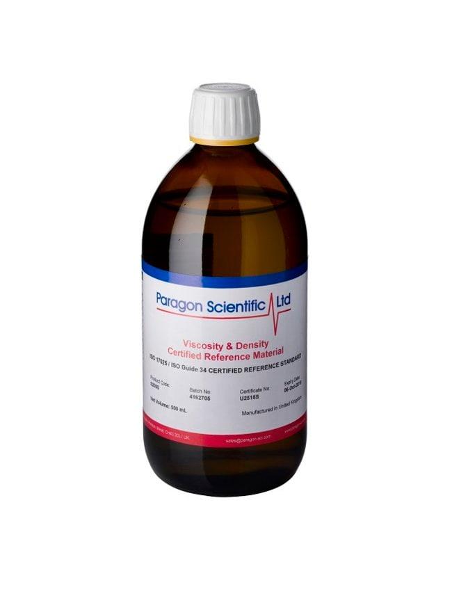 Paragon Scientific™Hochtemperatur-Viskositätsstandard; UKAS ISO/IEC17025- und ISO17034-zertifiziert, Viskosität 2,935mPa.s (60°C) Menge: 500ml Viskositäts-Standards