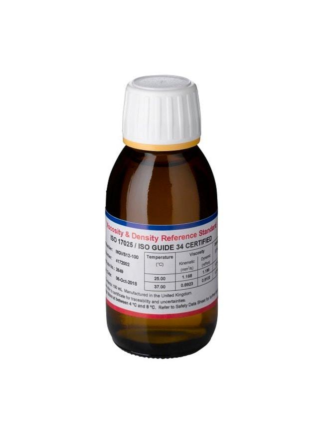 Medical Viscosity Standard, 2.0 mPa.s (25.00°C ), Paragon Scientific™ Quantity: 100 mL Medical Viscosity Standard, 2.0 mPa.s (25.00°C ), Paragon Scientific™
