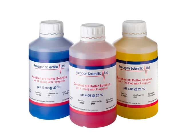 Paragon Scientific™Zertifizierte pH-Pufferlösung, UKAS ISO17025/ISO17034-zertifiziert, 25°C pH10, blau Paragon Scientific™Zertifizierte pH-Pufferlösung, UKAS ISO17025/ISO17034-zertifiziert, 25°C