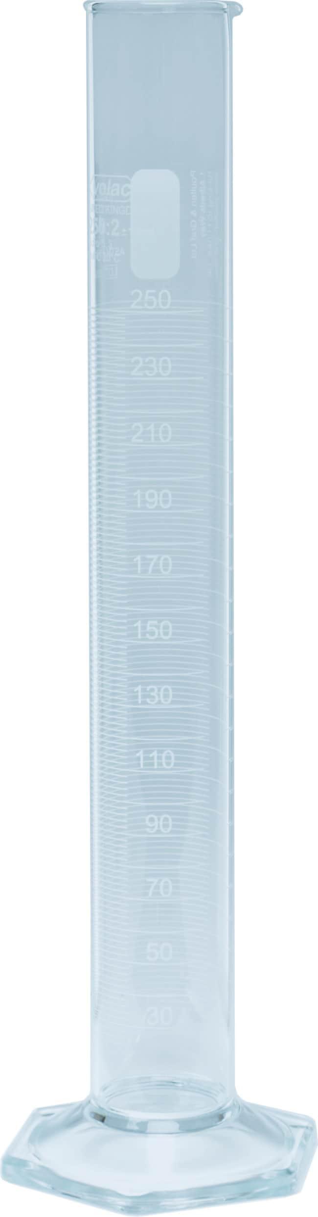Poulten Graf™Volac™ Class A Borosilicate Glass Graduated Cylinders Capacity: 250mL Poulten Graf™Volac™ Class A Borosilicate Glass Graduated Cylinders