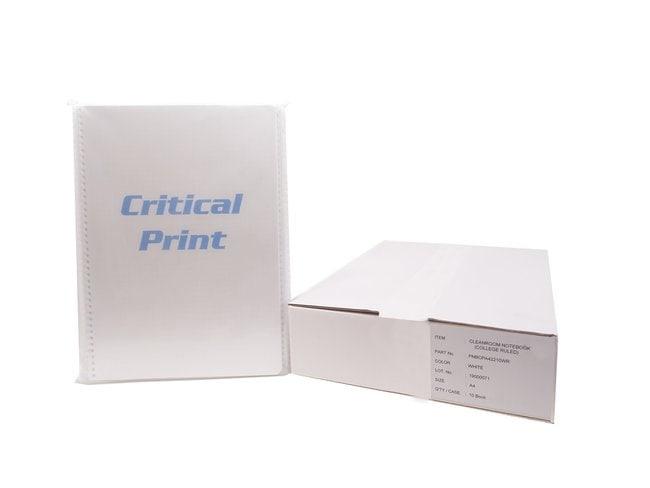 PURUS™Critical Print Cleanroom Notebooks White, A4, Ruled PURUS™Critical Print Cleanroom Notebooks