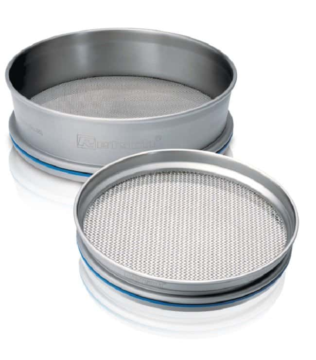 RETSCHStainless-Steel Test Sieves, 150mm Dia., in Micrometer Pore Sizes with ISO 3310/1 Pore Size: 355um RETSCHStainless-Steel Test Sieves, 150mm Dia., in Micrometer Pore Sizes with ISO 3310/1