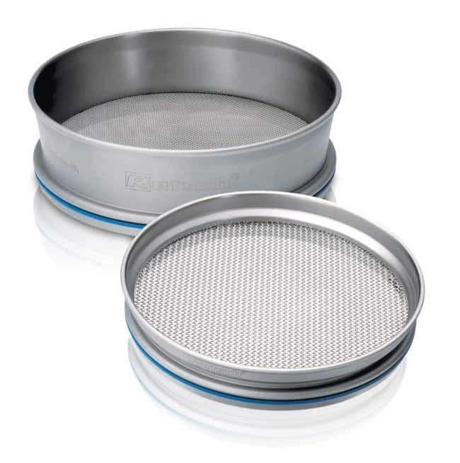 RETSCH 400 dia. x 65mmH Stainless Steel Test Sieve with Square Holes, ISO Certified: Spatulas, Forceps and Utensils Products