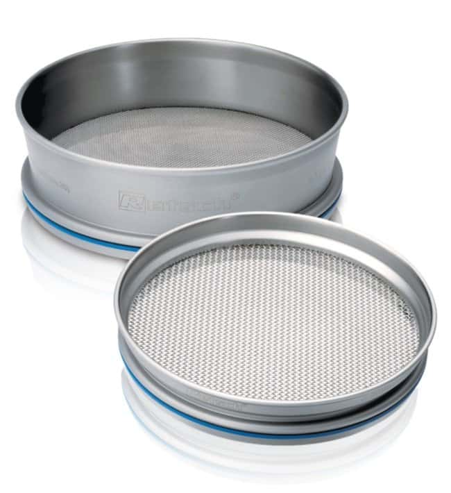 RETSCH Stainless-Steel Test Sieves, 200 Dia. x 50mmH, with Perforated Plates with Square Holes Pore Size: 112mm RETSCH Stainless-Steel Test Sieves, 200 Dia. x 50mmH, with Perforated Plates with Square Holes