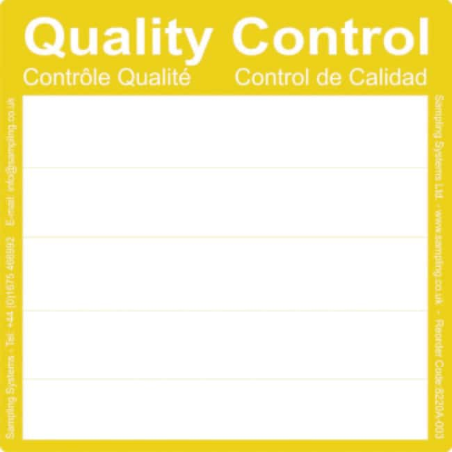 Sampling Systems™Ultrafest klebende (UA) Prozessetiketten dimColor: Gelb Sampling Systems™Ultrafest klebende (UA) Prozessetiketten