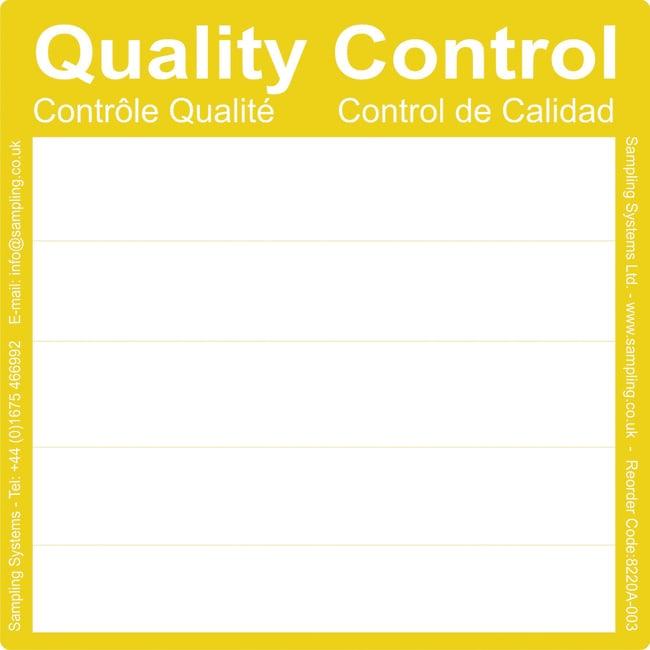 Sampling Systems™Qualitätskontrollen-PharmaLabels dimColor: Gelb Sampling Systems™Qualitätskontrollen-PharmaLabels