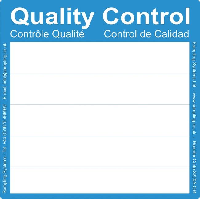 Sampling Systems™Qualitätskontrollen-PharmaLabels dimColor: Blau Sampling Systems™Qualitätskontrollen-PharmaLabels