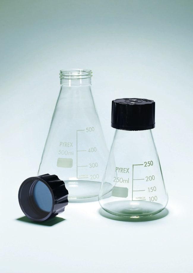 Pyrex™Borosilicate Glass Erlenmeyer Flasks with Screw Cap Capacity: 10mL Pyrex™Borosilicate Glass Erlenmeyer Flasks with Screw Cap