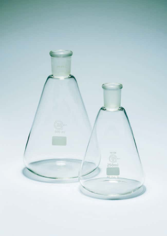 Quickfit™ Borosilicate Glass Erlenmeyer Flask with Quickfit Ground Glass Socket Capacity: 1000mL; Socket: 29/32 Quickfit™ Borosilicate Glass Erlenmeyer Flask with Quickfit Ground Glass Socket