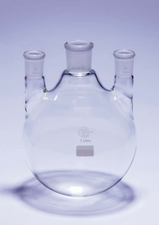 Quickfit™ Borosilicate Glass Short Neck Round Bottom Flask Capacity: 1000mL; Socket: 19/26 Quickfit™ Borosilicate Glass Short Neck Round Bottom Flask
