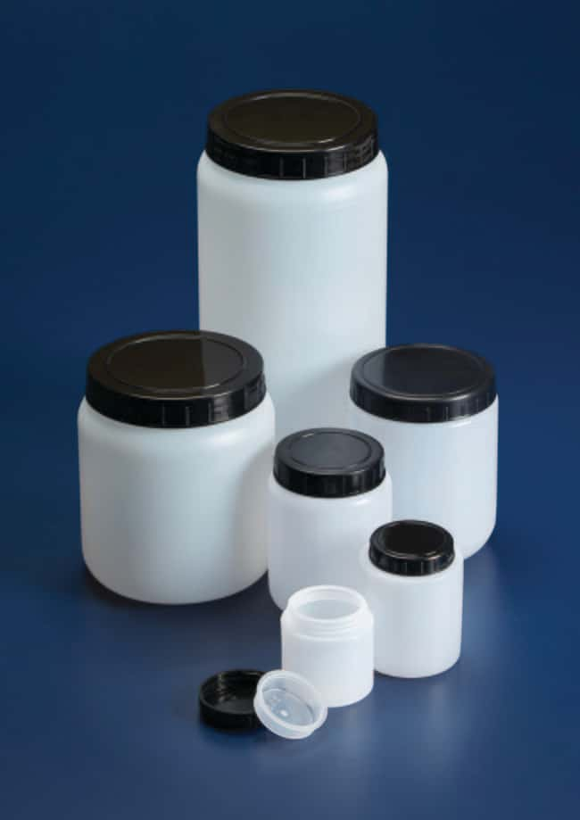 Azlon™ HDPE Wide Neck Jars Capacity: 2000mL; Packaging: Lab packs; Quantity: 5/Pk.; Diameter: 112mm Products