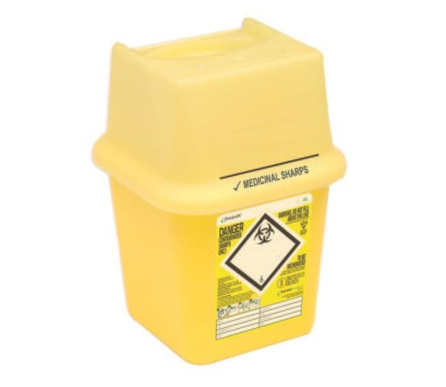 Sharpsafe™Polypropylene Biohazard Sharps Container: Home