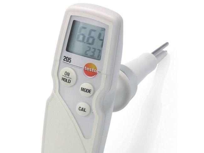 Testo™205 pH/Temperature Meter Starter Kit 205 pH/Temperature Meter Starter Kit Portable pH Meters