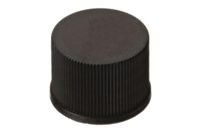 Fisherbrand™15mm PP Screw Cap, Black, 15-425 thread Closed top Fisherbrand™15mm PP Screw Cap, Black, 15-425 thread