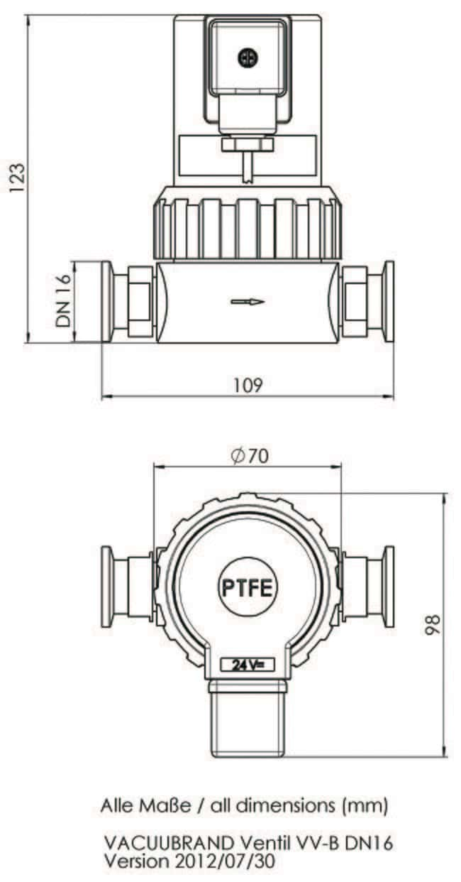 Isolation Valve Schematic Reinvent Your Wiring Diagram Thomas Compressor Vacuubrand Pvdf Ptfe In Line Material Rh Fishersci Se Symbol Pex Plumbing Types