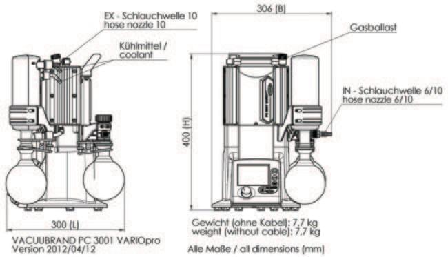 VACUUBRAND™PC3001 VARIO™ Pro Pumpsystem: Pumpen Pumpen und Schläuche