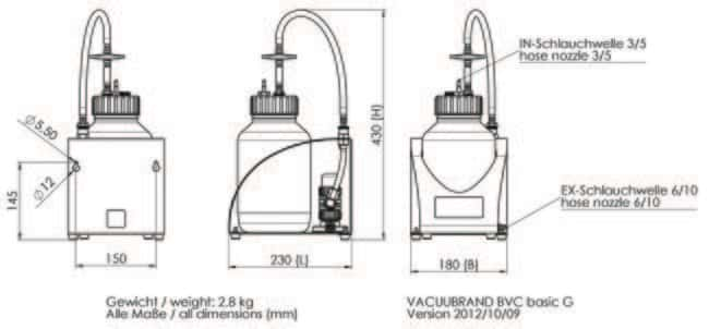 BrandTech VACUUBRAND BVC Fluid Aspiration Systems for Cell Culture :Pumps